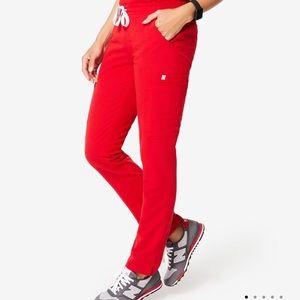 Figs scrub yola red pant xs regular new